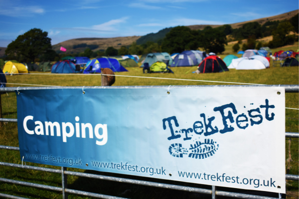 Camping in TrekFest Village