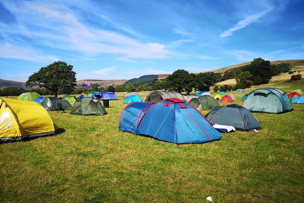 Camping in the TrekFest village