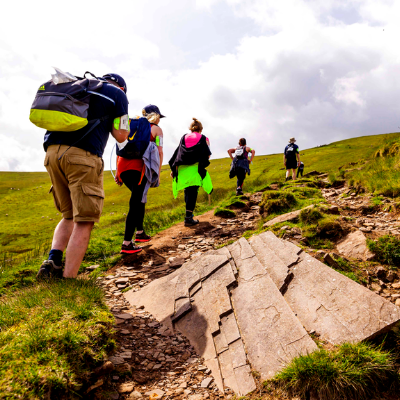 People taking on TrekFest - an endurance charity challenge
