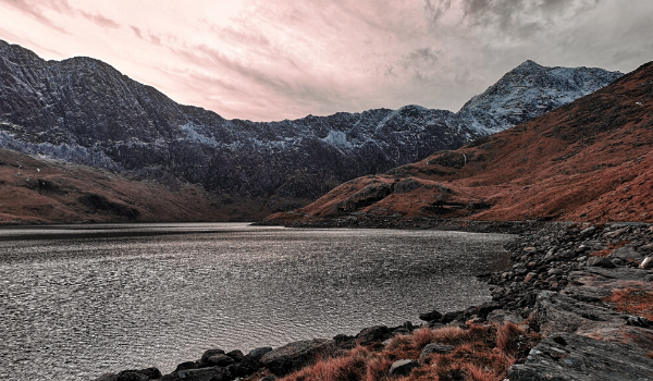 Lake and mountains in Snowdonia