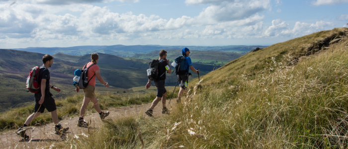 People hiking at TrekFest The Peaks 2018