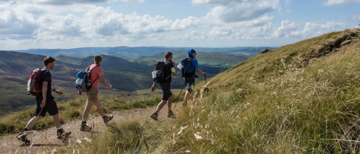 People hiking at TrekFest The Peaks 2018