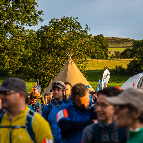 People in TrekFest Village