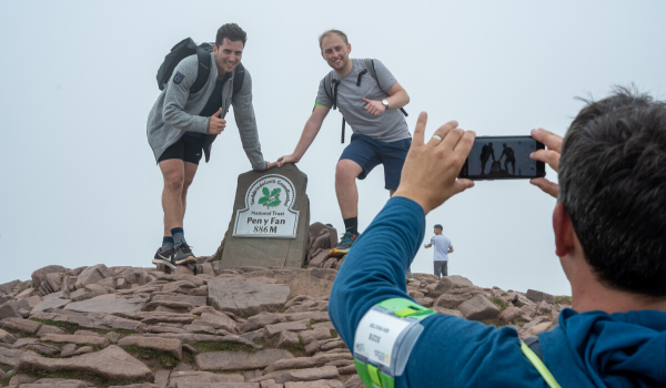 Participants on the top of Pen y Fan